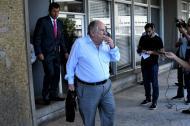 Julio Gerlein a su llegada a los juzgados de Barranquilla.