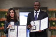 Nadia Murad y Denis Mukwege.