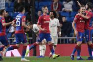 Jugadores del CSKA celebrando uno de los goles.