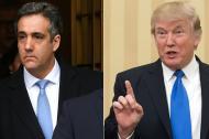 Michael Cohen (izq) y Donald Trump.