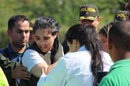 Melissa Martínez García, empresaria bananera, se reencuentra con su familia luego de 114 días secuestrada.