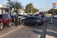 Estado en que quedó el vehículo accidentado la mañana de este sábado.