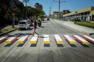 Así se ve la cebra 3D en la calle 98 con carrera 56.