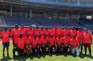 La selección Colombia ha estado entrenando en el estadio Édgar Rentería.
