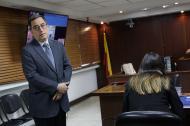 Durante la audiencia en contra de José Elías Melo, expresidente de Corficolombiana.