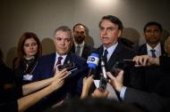 El presidente Duque y su colega de Brasil, Jair Bolsonaro, en su encuentro de este miércoles.