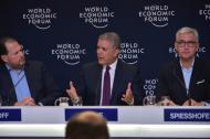 El presidente de la República, Iván Duque, participando en el Foro Económico Mundial de Davos, Suiza.