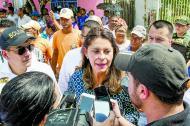Martha Lucía Ramírez, en diálogo con periodistas.
