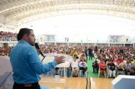 El alcalde de Santa Marta durante el evento.