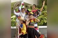 Los reyes del Carnaval de los Niños de Soledad.
