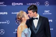 Novak Djokovic y su esposa Jelena.