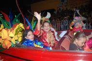 Esthercita Forero, en febrero de 2010, en uno de los últimos desfiles de Guacherna en los que participó.