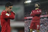 James, volante del Bayern. Salah, goleador del Liverpool.