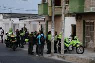 Miembros de la Policía Metropolitana hicieron presencia en el lugar de los hechos.