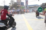 El alcalde Alejandro Char en la carrera 38 con calle 54.