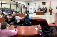 Aspecto de la sesión del Concejo Distrital de este viernes.