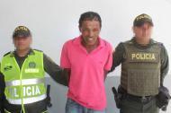 Édgar Enrique Ballesta, capturado.