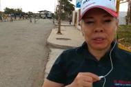 La corresponsal de EL HERALDO, Sandra Guerrero, en la frontera con Venezuela a la altura de Paraguachón.