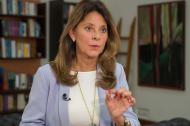 Marta Lucía Ramírez, vicepresidenta de la República, durante su anuncio.