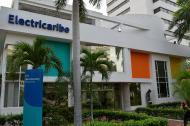 Fachada de las oficinas de Electricaribe, ubicadas en el norte de Barranquilla.