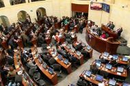 Aspecto del Congreso durante una de las sesiones donde se discutió el Plan Nacional de Desarrollo.