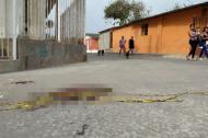 Lugar donde fue atacada a tiros la víctima.
