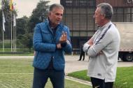 Carlos Queiroz, entrenador de la Selección Colombia y Gustavo Alfaro, DT de Boca Juniors.