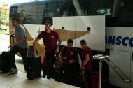 El club argentino arribo a Barranquilla para su juego ante Junior por la fecha 5 de la Copa Libertadores.