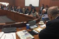Aspecto del debate en la Comisión V del Senado de la República.