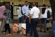 Familiares de Leonardo Navarro Mendoza y Candy Maestre en Valledupar.