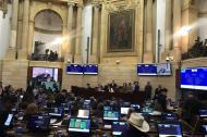Vista de la discusión en la plenaria del Senado del Congreso de la República.
