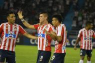 Michael Rangel anota el único gol del partido.