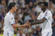 Cristiano Ronaldo y Emmanuel Adebayor.
