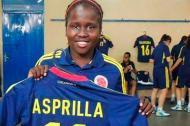 La futbolista Leidy Asprilla, que ha hecho parte de las selecciones Colombia sub'17 y sub'20.