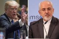 Donald Trump y Mohammad Javad Zarif.