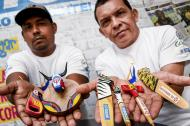 Fernando Padilla y Luis Pertúz, artesanos de Galapa.