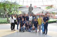 Estudiantes mexicanos del programa DELFIN, junto a los docentes investigadores de las facultades de Ciencias Exactas y Naturales y Ciencias de la Salud, de la Universidad Libre Seccional Barranquilla.