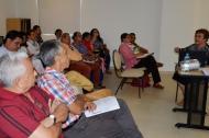 Líderes sociales y  miembros de la Mesa Sucreña por la Paz debatieron en Sincelejo.