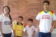 En la imagen, de izquierda a derecha: Valentina Ruiz, Orlando Borré, Jarett Diaz y Federico Valera.