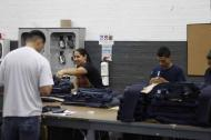 Trabajadores de una empresa del sector de confecciones.