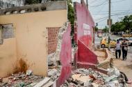 Viviendas demolidas en el barrio San Nicolás.