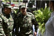 E, general Nicanor Martínez en su visita en la capital del Atlántico para un reconocimiento de la Asociación Colombiana de Oficiales Retirados de las Fuerzas Militares, Acore.