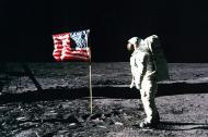 Imagenes distribuidas por la Nasa de la llegada del hombre a la Luna en 1969.