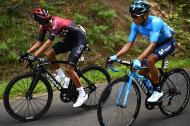 Quintana y Egan Bernal en la etapa del domingo.