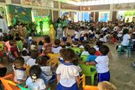 Un grupo de niños  durante una actividad en un CDI de Barranquilla.