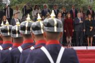 El presidente Iván duque junto a la vicepresidenta, Martha Lucía Ramírez y cúpula del gobierno.
