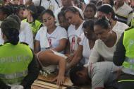 Sepelio de la niña Génesis Rúa, en Fundación (Magdalena), víctima de abuso sexual y feminicidio.