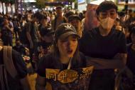Protestas de manifestantes en Hong Kong.