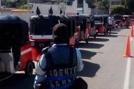 La caravana de motocarros en Santa Marta.