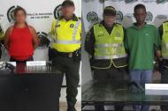 La mujer y el hombre capturados portando armas de fuego de manera ilegal.